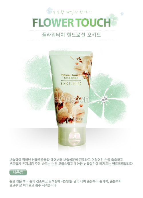Kem Dưỡng Da Tay Flower Touch Hand Lotion Orchid