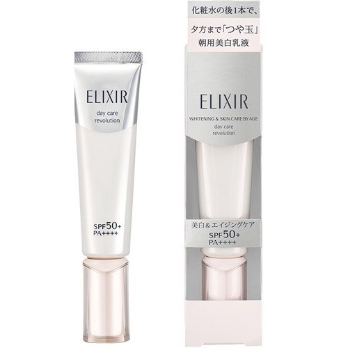 Tinh Chất Dưỡng Ngày Shiseido Elixir Whitening & Skin Care By Age Day Care SPF 50+/PA++++ 35ml