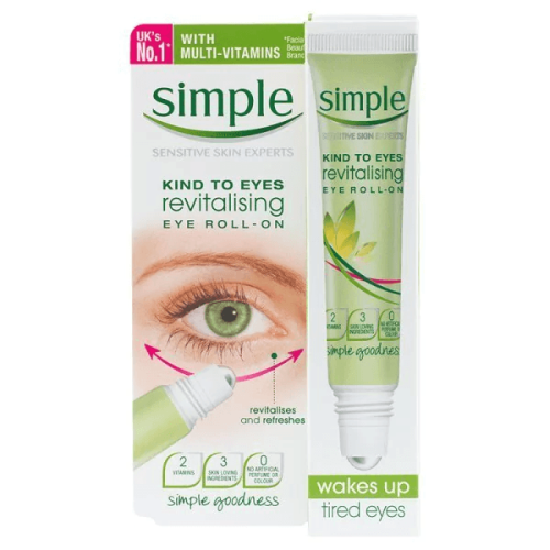 Thanh Lăn Giảm Thâm, Bọng Mắt Simple Kind To Eyes Revitalising Eye Roll-On 15ml